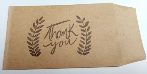 Boho 'Thank You' Drink Token Holder 10pk